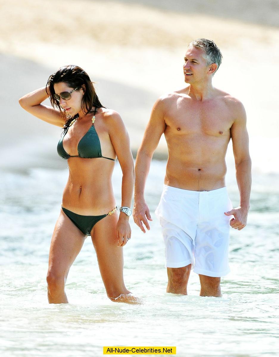 Danielle Lineker sexy in various bikinies in Barbados